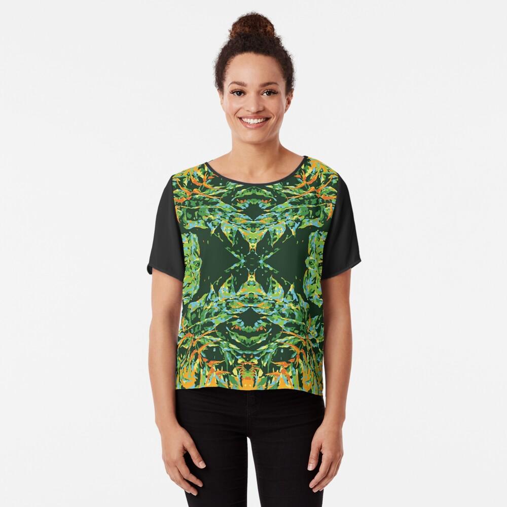 Tropic Totem Chiffon Top