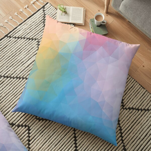 """Beautiful day"" geometric design Floor Pillow"
