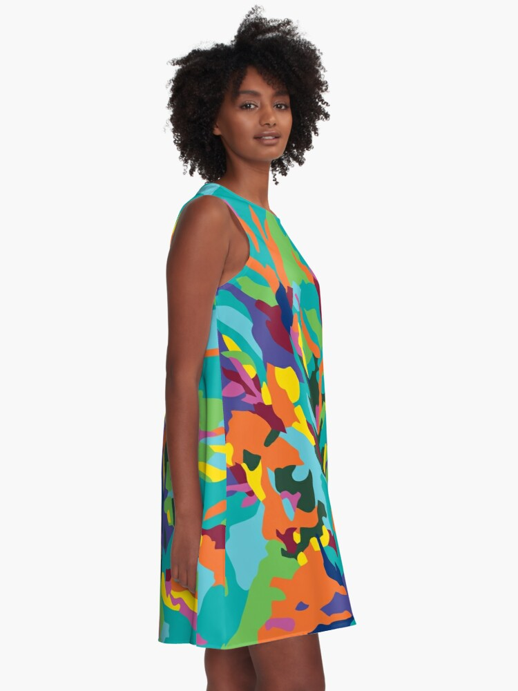 Alternate view of Tropic Paradise A-Line Dress