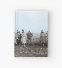 British and German troops in the Christmas Truce, 1914. Hardcover Journal