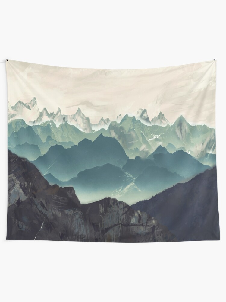 Alternate view of Shades of Mountain Tapestry