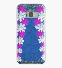 Denim Jeans Lookalike Flower Spray Samsung Galaxy Case/Skin