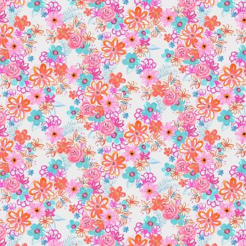 Lush Romantic Watercolour Floral Pattern for duvets, pillows, leggings, mugs and phone cases by GabsBuckingham