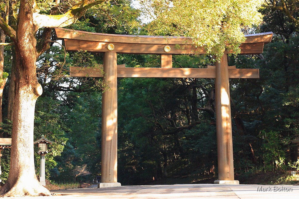 Meiji-Jinju Shrine Torii by Mark Bolton
