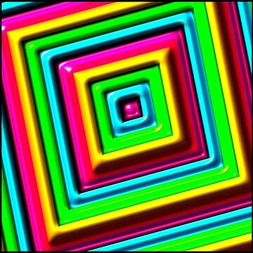 Cubist Rainbow by JLHDesign
