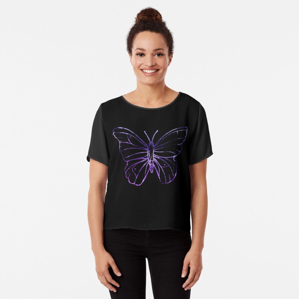 Simple Butterfly Chiffon Top