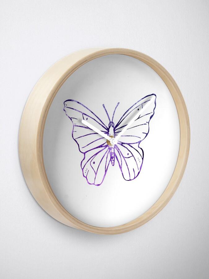 Alternative Ansicht von Simple Butterfly Uhr