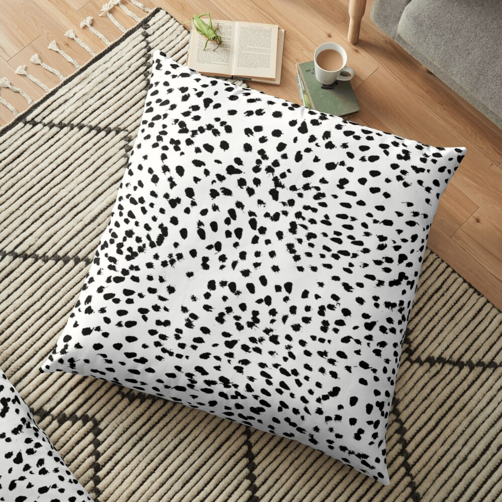 Dalmat-b&w-Animal print I Floor Pillow