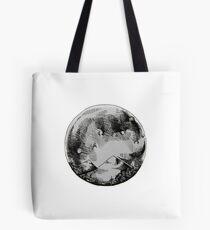 Ink Moon Cross Hatch Tote Bag