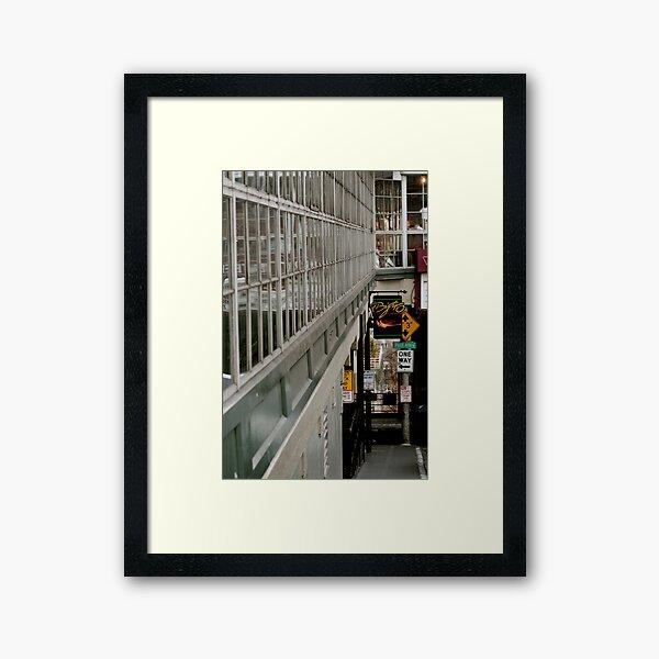 One Way, to the Wharf Framed Art Print