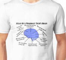 Funny Pharmacy Tech Brain Unisex T-Shirt