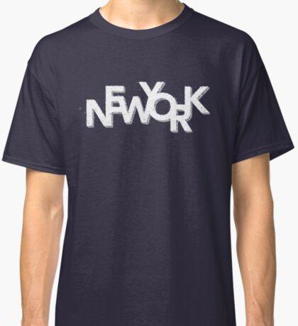 New York Retro 3D White Classic T-Shirt