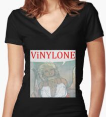 Vinylone color Aria Big Women's Fitted V-Neck T-Shirt