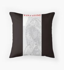 Vinylone watermark Aria Throw Pillow