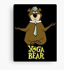 Yogi Bear Yoga Canvas Print