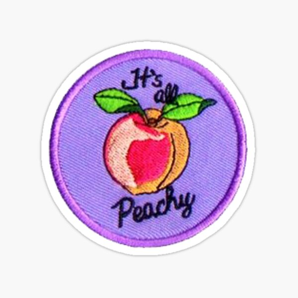Its all Peachy Patch Sticker