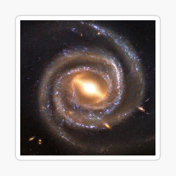 #Astronomy: #Megamaser #barred spiral #Galaxy named UGC 6093, Cosmology, AstroPhysics, Universe Sticker