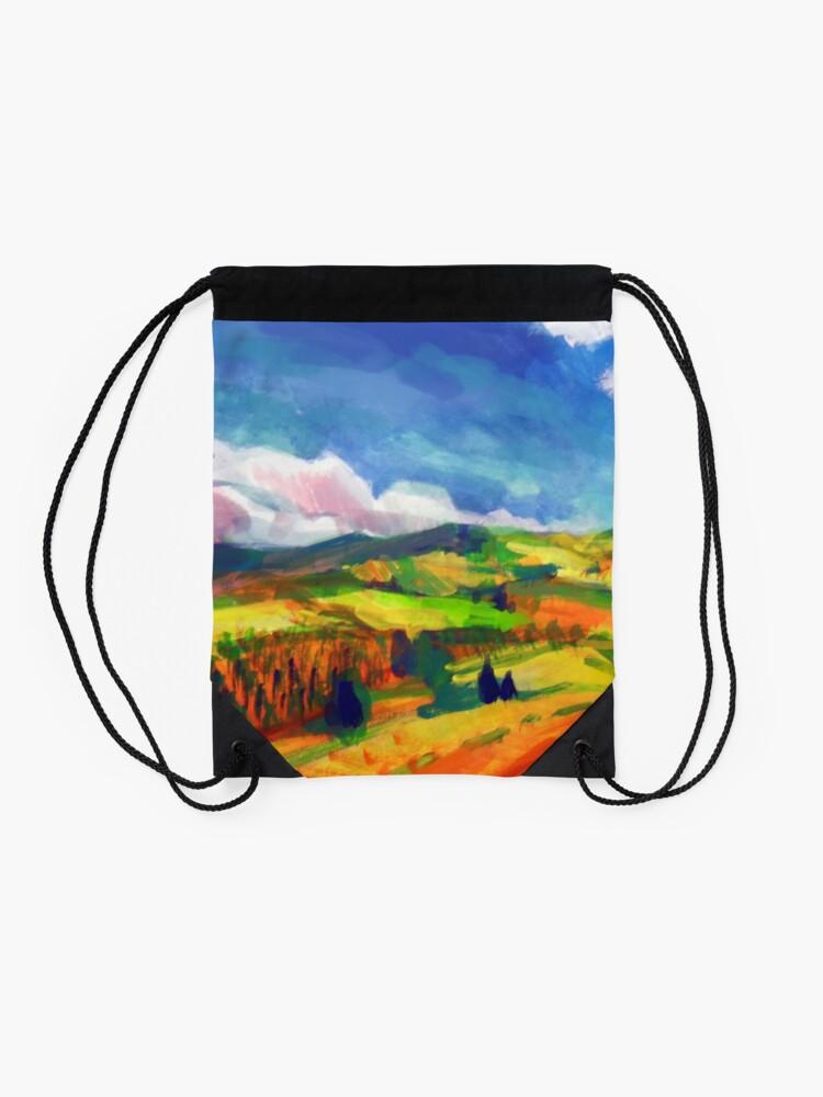 Alternate view of Clouds Drawstring Bag