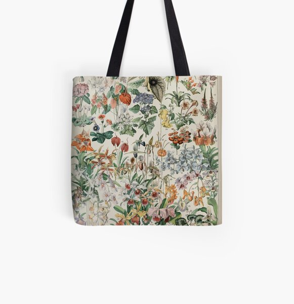 Adolphe Millot fleurs D All Over Print Tote Bag