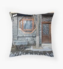 Picturesque chinese facade Throw Pillow