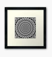 Optical illusion - Hypnotic black and white abstract rotating motion Framed Print