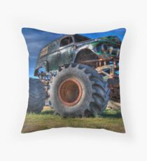 Grave Digger Throw Pillow