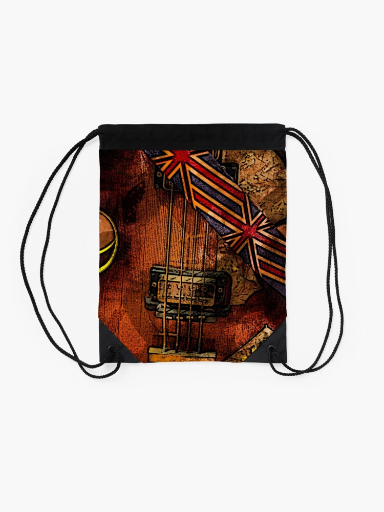 Alternate view of British invasion Drawstring Bag