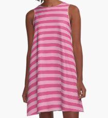 Pink Stripes A-Line Dress