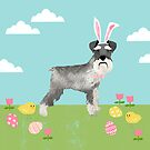 Schnauzer easter dog breed pet pattern rescue dog schnauzers lovers spring easter eggs by PetFriendly
