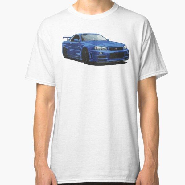 Nissan R34 GTR Skyline blau Classic T-Shirt