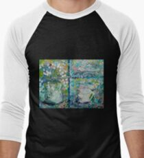 Vase and Demitasse Impressionist Painting Men's Baseball ¾ T-Shirt