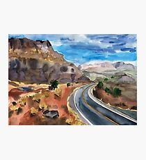 Road to the Canyon Photographic Print