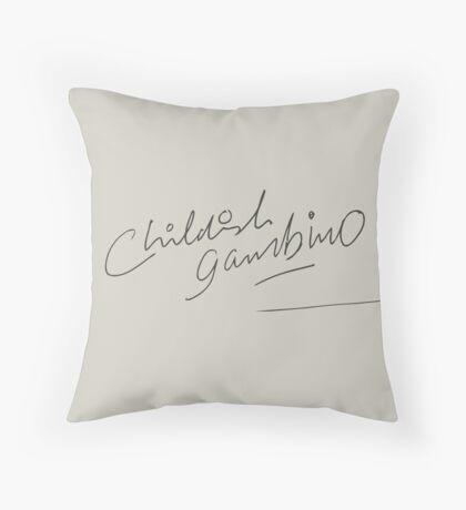 Childish Gambino Signature Throw Pillow