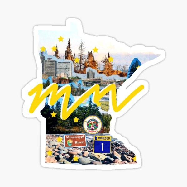 minnesota state pride collage art Sticker