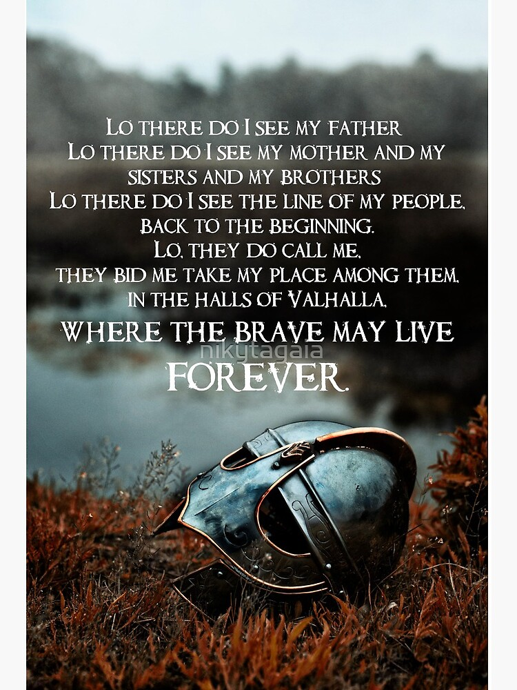 Brave May Live Forever Viking Prayer Art Board Print By Nikytagaia Redbubble