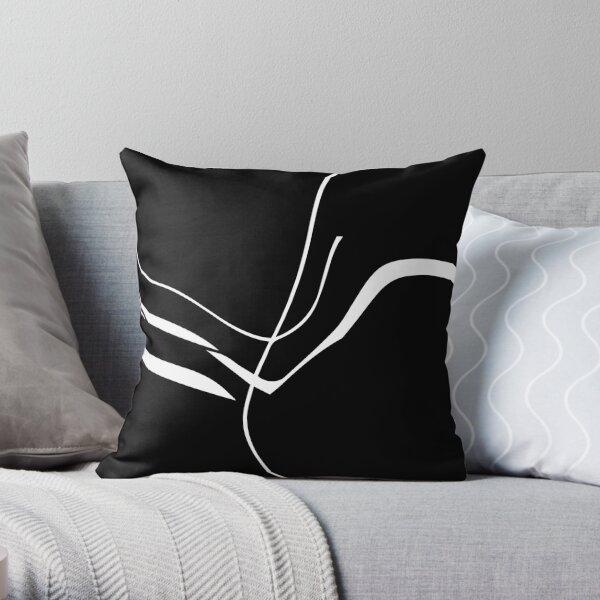 Organic No. 8 White on Black Minimalism #artprints #redbubble #decor #design Throw Pillow
