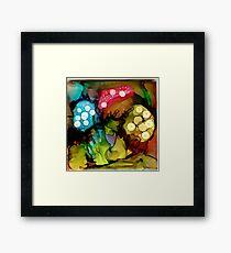 Three Mushrooms Framed Print