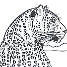 Leopard profile  by Brandy Heinrich