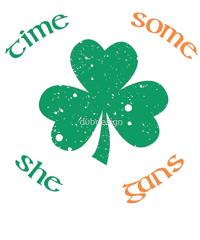 St. Patrick's Day Time For Some Shenanigans ShamrockT-shirt by dubdesign