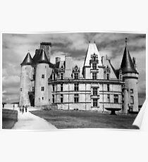 Castle - France - B&W Poster