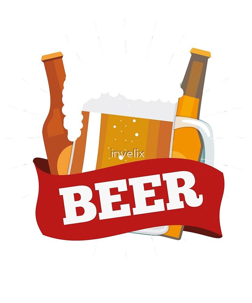 beer beer design tshirt hoodie sticker mug bag by invelix