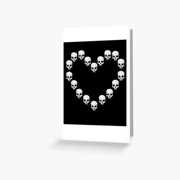 Skull Heart - Gothic Gift Greeting Card
