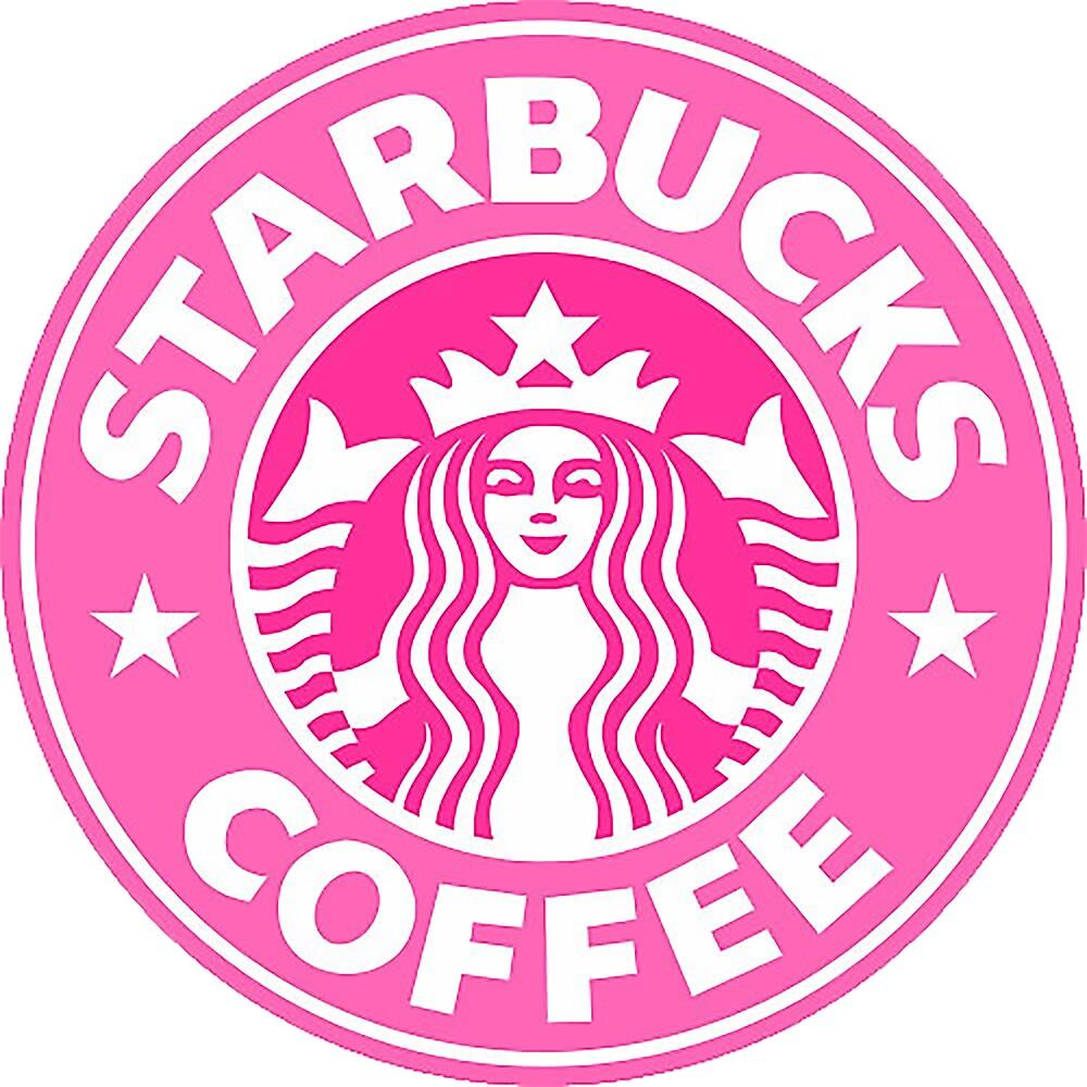 Pink Starbucks Logo by SelenaGz