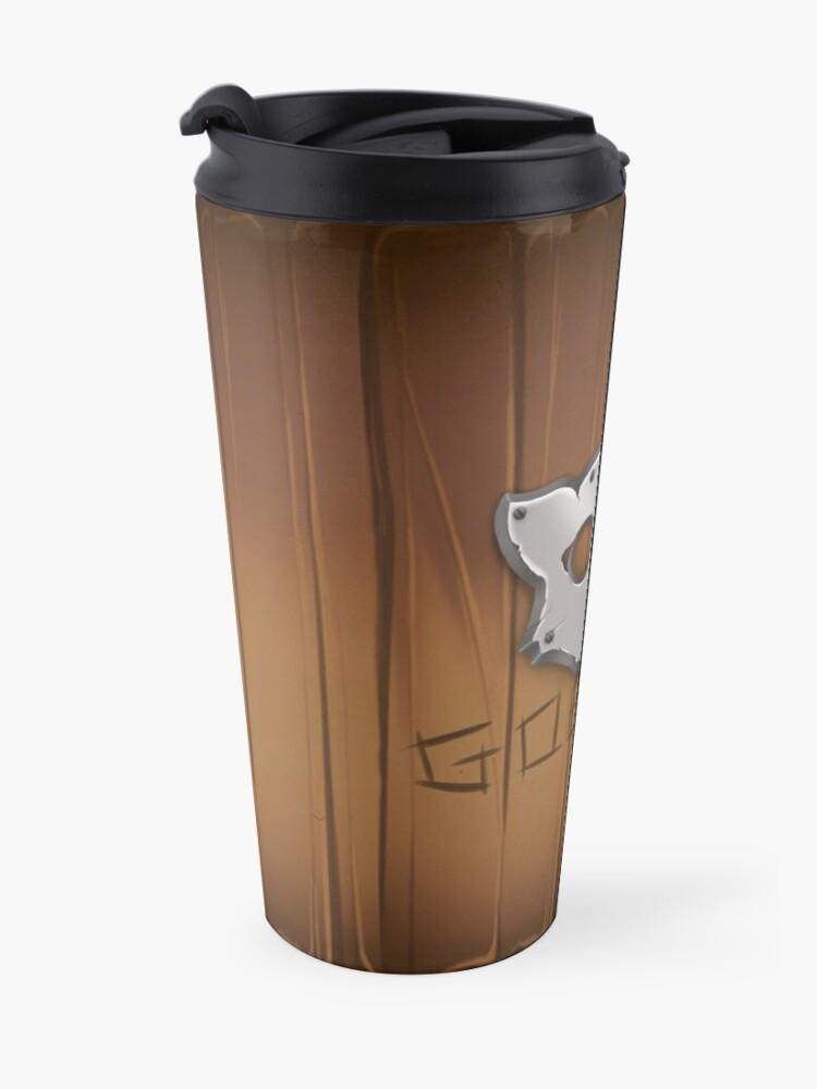 Alternate view of GoEaSyTwitch LogoWood Travel Mug