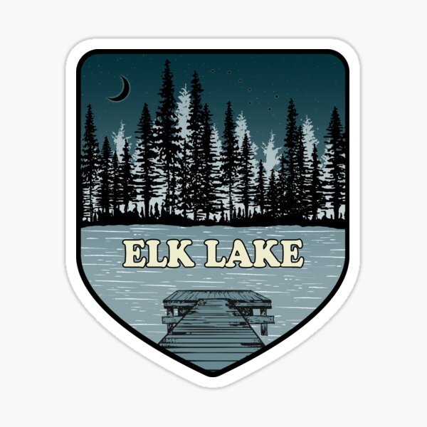 A Night on Elk Lake Sticker