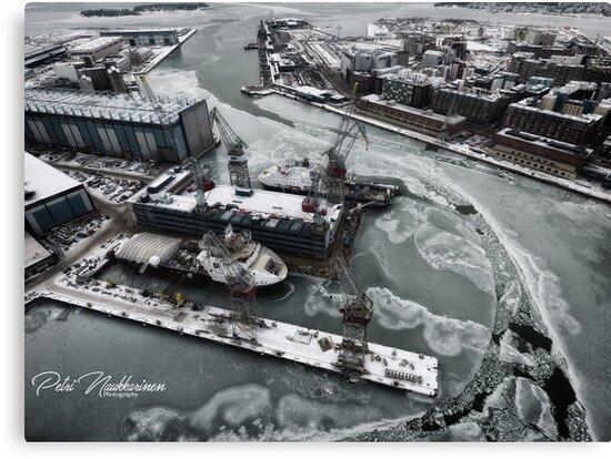 Shipyard in helsinki by Petri Naukkarinen