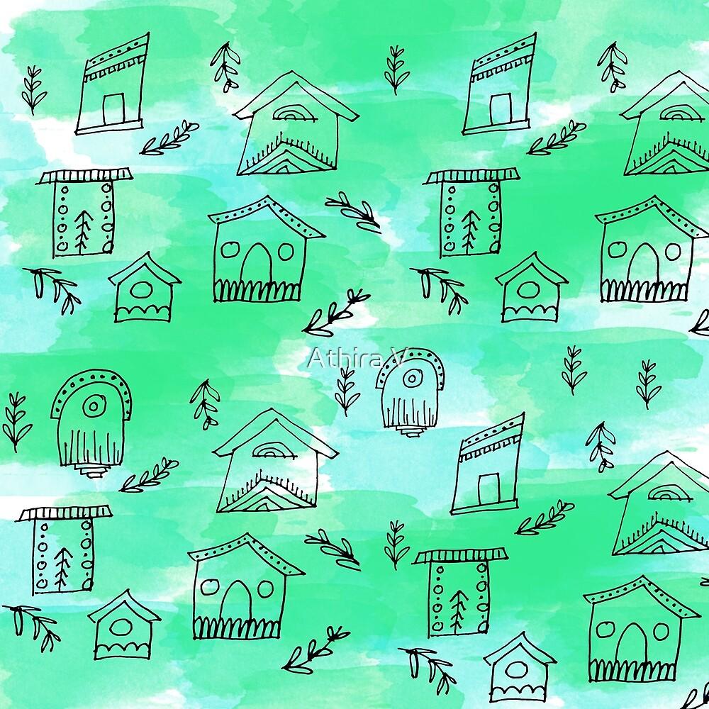 folk houses by Athira V
