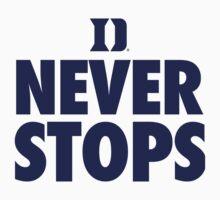 Duke Never Stops shirt, hoodie and more | Unisex T-Shirt