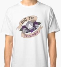 Roll For Friendship! - Asexual Pride Classic T-Shirt