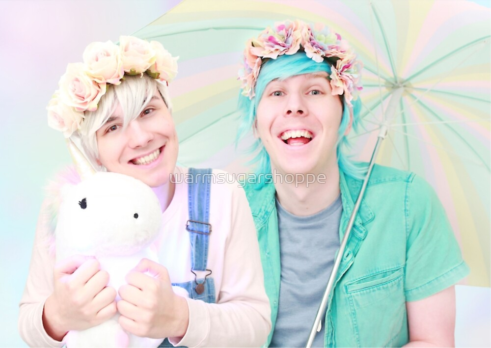 dan and phil - pastel by warmsugarshoppe
